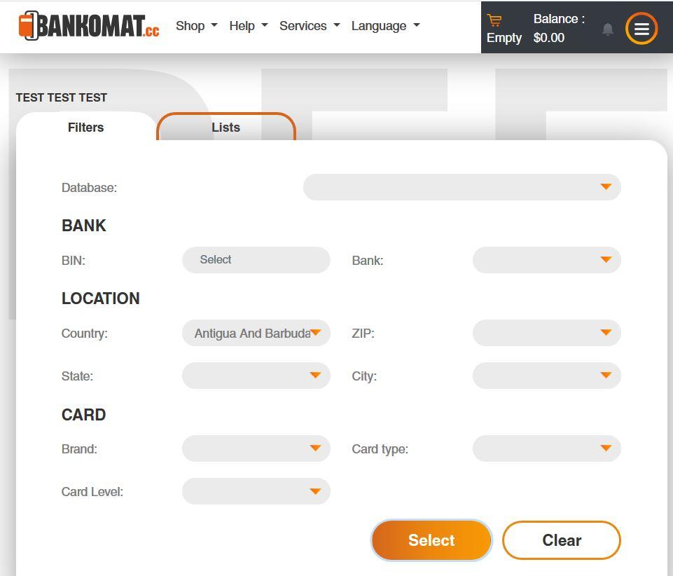 Bankomat Card Shop